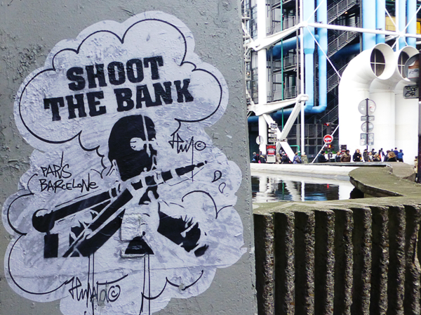 shoot the bank street art