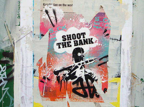 Bricklane street art graffiti london shoot the bank