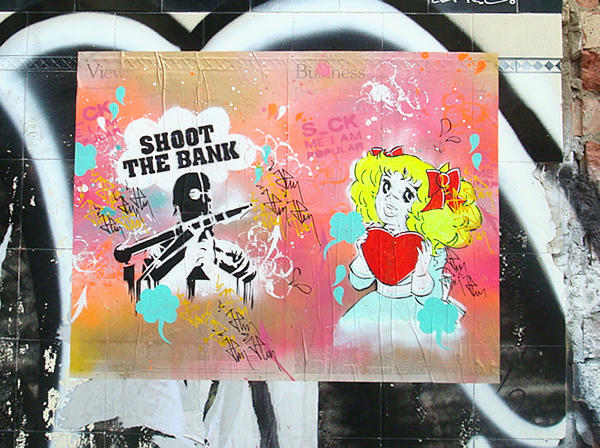 Shoot The Bank Bricklane. London.