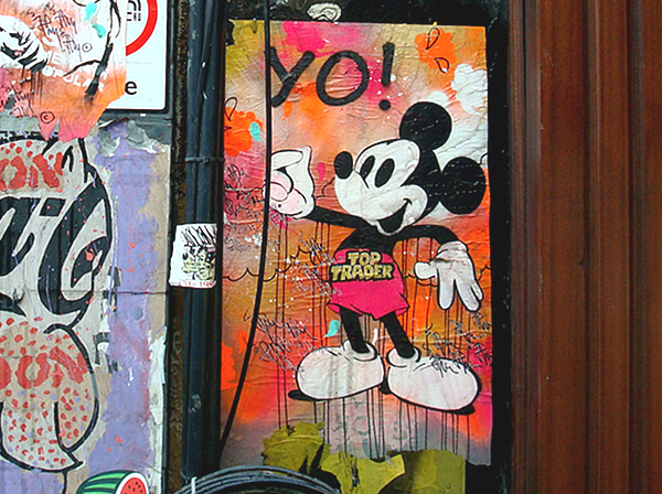 Mickey Top Trader JP Malot. Art Republic, Soho. London.