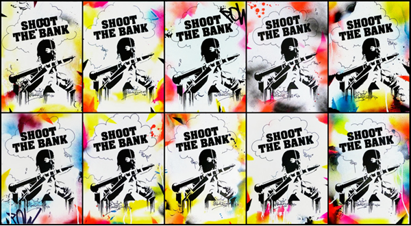 serigraphie shoot the bank